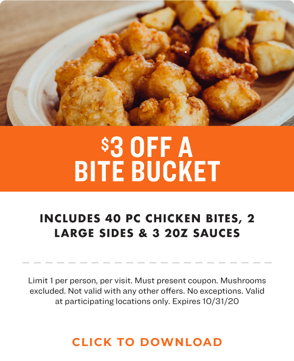 $3 off a Bite Bucket
