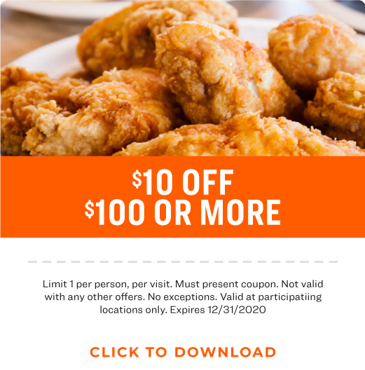 $10 off $100 or more Coupon
